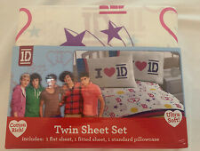 1D One Direction Boy Band 3 Piece Twin Sheet Bedding Set New