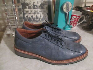 Allen Edmonds Voyager Leather Blue Leather Oxford / Walking Shoes 12 B MSRP $295