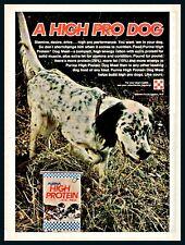 1978 English Setter on Point Purina Dog Food Vintage Photo Ad
