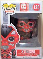 Funko Pop Stinger # 135 Transformers Vinyl Action Figure Brand New