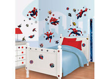 Riesiges Wandsticker Set Kinderzimmer Ultimate Spiderman Wandtattoo Messlatte