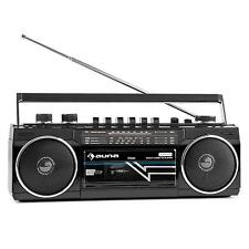 Boombox Portable Speakers Cassette Tape Player Bluetooth USB SD MP3 Retro 80s