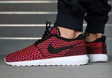 Nike Flyknit Rosherun UK 9 EUR 44 US 10 Red fireberry Roshe Run Air Force 1 Max
