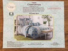 Great for dorm room! Dena Home Azure Sky Blue Twin Comforter + two Pillow Shams