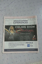 "Celine Dion ""Courage World Tour"" Ad - 2019 San Francisco Newspaper-Printed Once!"