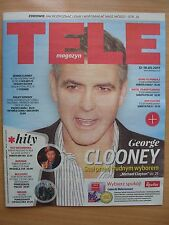 GEORGE CLOONEY on front cover Polish Magazine TELE MAGAZYN 19/2017