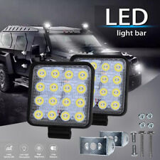 4Inch Square 48W 16LED Work Light Off Road FLOOD Beam Fog Lamp For Car Truck BF