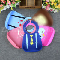1PC Baby Bibs Burp Saliva Feeding Aprons Cloth Adjustable Silicone Waterproof