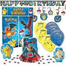 Pokemon Pikachu & Friends Premium Birthday Party Pack Decoration Kit Childrens