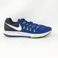 Nike Mens Air Zoom Pegasus 33 831352-400 Blue Black Running Shoes Size 10.5