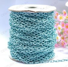 NP1379 Wholesale 2M Blue cable open link iron metal chain findings