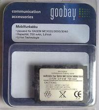 Mobilfunkakku Goobay pour SAGEM mc3020 3000 3040 700 mAh 3,6 V Li-Ion