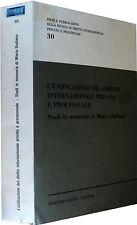L'unificazione del diritto internazionale Studi in memoria di M.Giuliano CEDAM 1