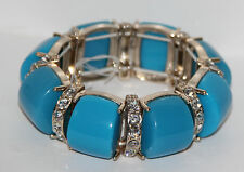 BANANA REPUBLIC Women's Crystal and Bead Stretch Bracelet in Blue (NWT)