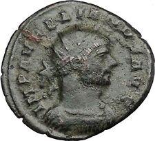 AURELIAN 270AD  RARE Ancient Roman Coin Victory Nike flying  i32986