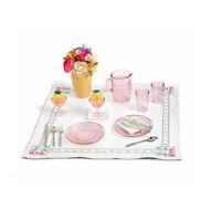 """American Girl KIT'S GLASSWARE & LINENS for 18"""" Dolls Retired Picnic Kit's NEW"""