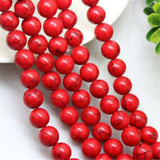 1 Strand Gemstone Natural Red Turquoise Stone Loose Beads DIY Crafts Accessories
