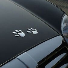 Car Auto 3D Emblem Badge Sticker ABS Chrome Bear Foot Prints Paw Claw Adhesive