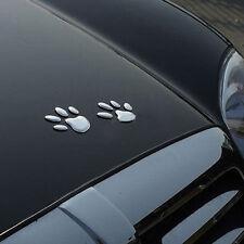 Car Auto 3D Emblem Badge Sticker ABS Chrome Bear Foot Prints Paw Claw Adhesive
