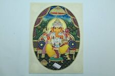 Religious Handmade Painting on Resin India God Ganesha with Precious stones..