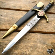 "15.5"" Knight Celtic Cross Crusader Medieval Fixed Blade Short Sword Knife Dagger"