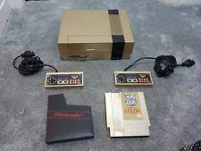 Custom gold nintendo nes, with zelda game