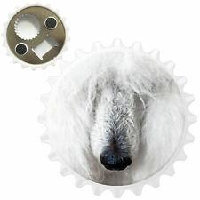Portrait Of White Poodle Bottle Opener Fridge Magnet