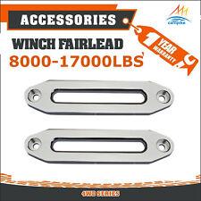 2X 8000-17000LBS Aluminium Hawse Fairlead Winch Alloy Synthetic Rope Recovery