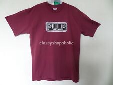 More details for vintage rare pulp tour t-shirt 1990's 1995 ? (burgundy ) size large - bnwot