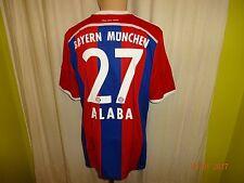 "FC Bayern München Adidas Trikot 14/15 ""-T---"" + Nr.27 Alaba + Signiert Gr.L Neu"