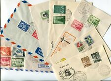 Iceland Fine Selection of FDC's from 1949-1961 - FREE SHIPPING