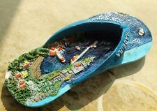 Portugal Madeira Travel Souvenir 3D Resin Fridge Magnet Slipper Shaped Craft