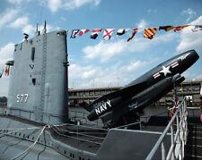 US NAVY SUBMARINE USS GROWLER IN NEW YORK CITY 11x14 SILVER HALIDE PHOTO PRINT