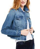 INC Women's Cropped Denim Jean Jacket, Blue, Size S, $90, NwT