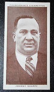 Boxing Manager  Johnny Sharpe   Original 1930's Vintage Photo Card