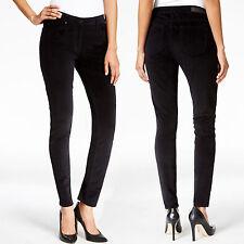 New CALVIN KLEIN Jeans Stretch Velvet Skinny Pants Four Pockets Legging 31 Black