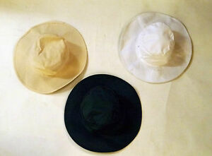 Classic Sun Hat Cotton Cream Green White Small Medium Large 57 58 59 Cricket Rim