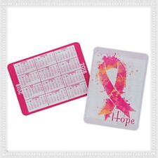 Lot of 12 2018 Pink Ribbon Breast Cancer Awareness Pocket Card Wallet Calendar