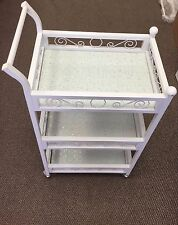 Rolling Trolley Cart 3 Shelves Beauty Salon Spa Storage Equipment Organizer