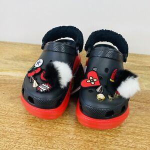Cruella Bae Disney Limited Edition Platform Crocs Clogs Jibbitz Size 8