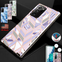For Samsung Galaxy S20 FE Note 20 Ultra Case Slim Hybrid Shockproof Marble Cover