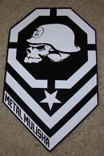 """METAL MULISHA Skull Helmet Chevron Skate Sticker 8"""" motocross skateboard decal"""