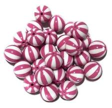 10 pieces 20mm hot pink watermelon chunky bubblegum beads DIY baby necklaces