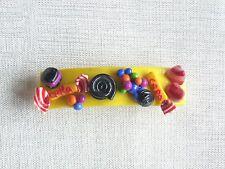 barrette cheveux enfant sucreries fabrication  artisanale pâte fimo ou polymère