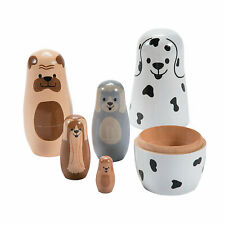 Dog Nesting Dolls - Toys - 5 Pieces