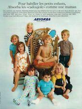 F- Publicité Advertising 1969 Pret à porter vetement enfants Absorba