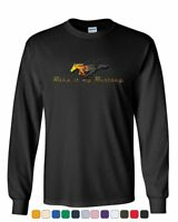 Make it My Mustang Long Sleeve T-Shirt Honeycomb American Classic Fire Horse Tee