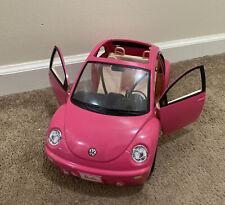 Vintage 2000 Mattel Barbie Volkswagen Beetle Car Hot Pink VW Bug