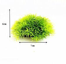 Aquarium Landscaping Green Red Artificial Plastic Grass Water Plant Decor UK