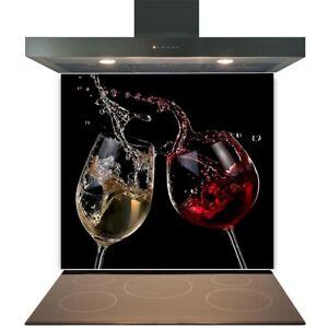 Kitchen Glass Splashback Toughened Tile Cooker Panel Any Size Two Wine Splash
